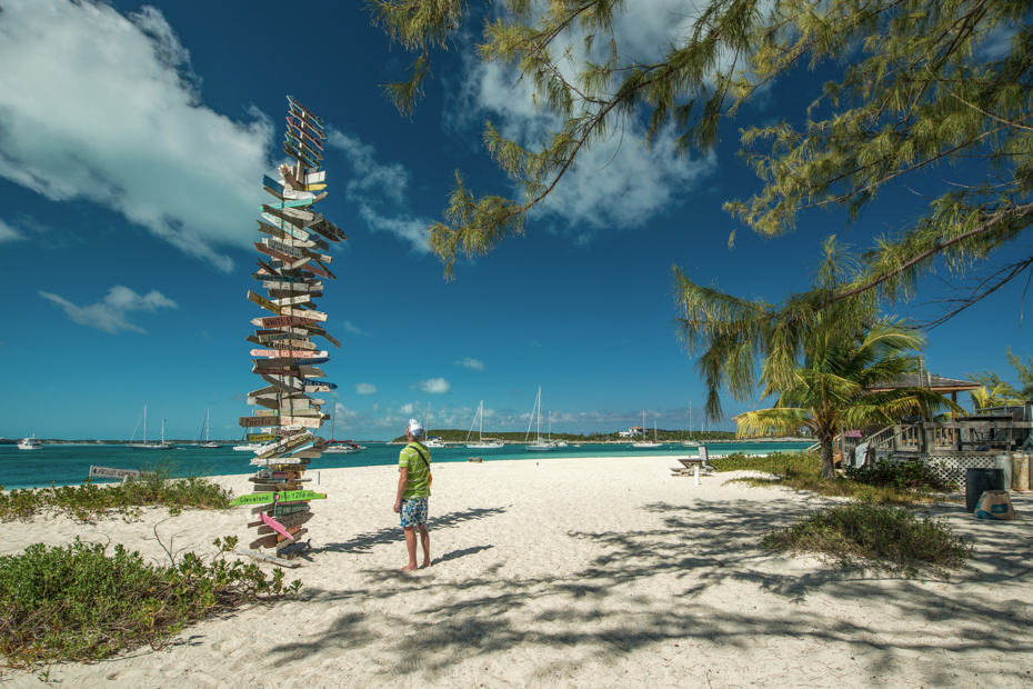 Things to do in Exuma at Stocking Island on Bahamas Islands Tour.