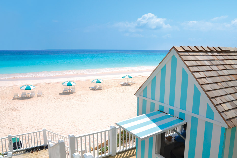 Dunmore Hotel Beach access at Pink Sands Beach Day Trip to Harbour Island from Nassau. Take the plane on a Nassau to Harbour Island Day Trip and enjoy the best of Pink Sands Beach and Dunmore Town.