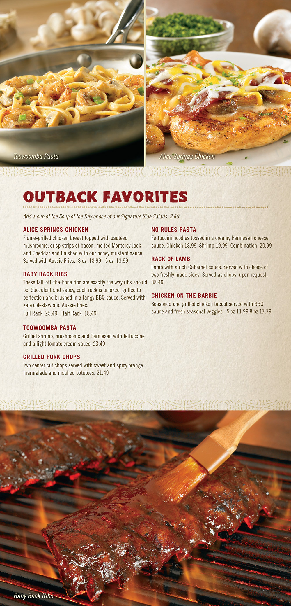 image about Outback Printable Menu called Outback Steakhouse Lunch Menu - Calendar year of Refreshing H2o