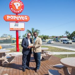 The Orleans Kitchen Island Diy Cabinets Popeyes Opens Second Location In Carmichael Road | Nassau ...