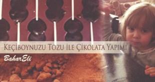 keçi boynuzu tozu ile çikolata yapımı