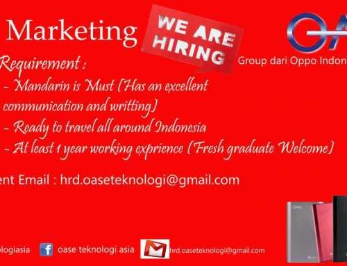 Lowongan Sales Marketing Translator Mandarin Maret 2019