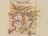 Mapa da ilha de São Vicente, Luiz Teixeira, 1586.