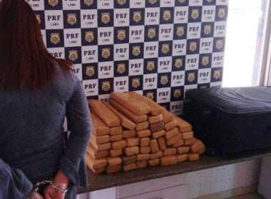 PRF prende mulher por transportar 35 kg de maconha em ônibus na BR-116 perto de Jequié