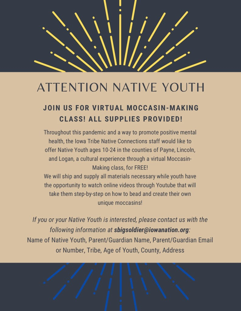 Attention Native Youth Moccasin Making Class