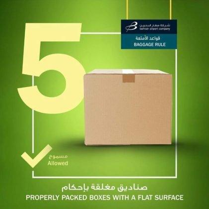 Bahrain Flughafen Gepäckregeln