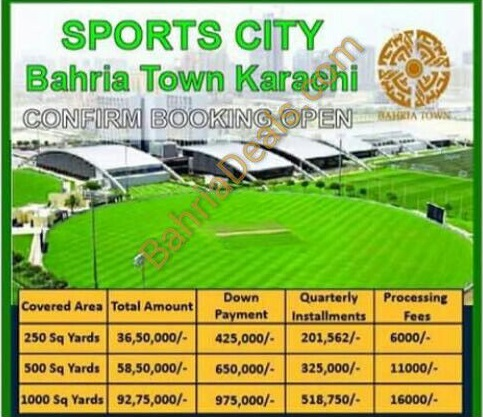 Bahria Sports City payment plan