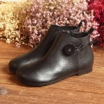 Leather Short Boots Women Casual Outdoor Soft Slip On Flat Shoes 5