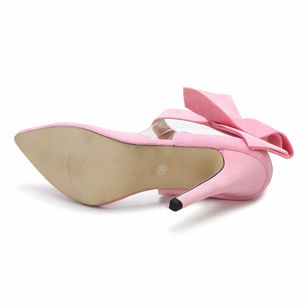 Women Fashion High Heel Suede Artificial Slip On Pointed Toe Thin Heel Pumps Shoes 8