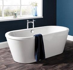 baignoire ilot blanche
