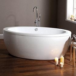 baignoire ilot ovale