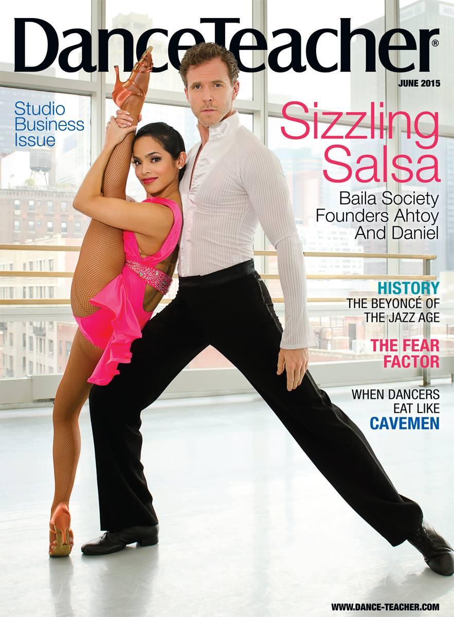 Baila Society on cover of Dance Teacher magazine  BAILA Society