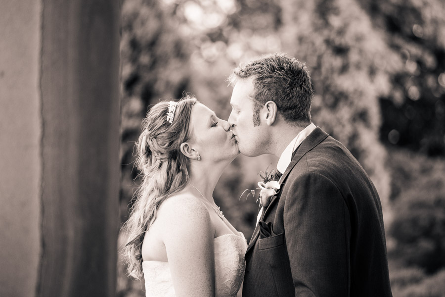 black and white kissing