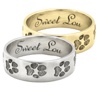 Wholesale Paw Print Band Ring   Pet Personalized Jewelry ...