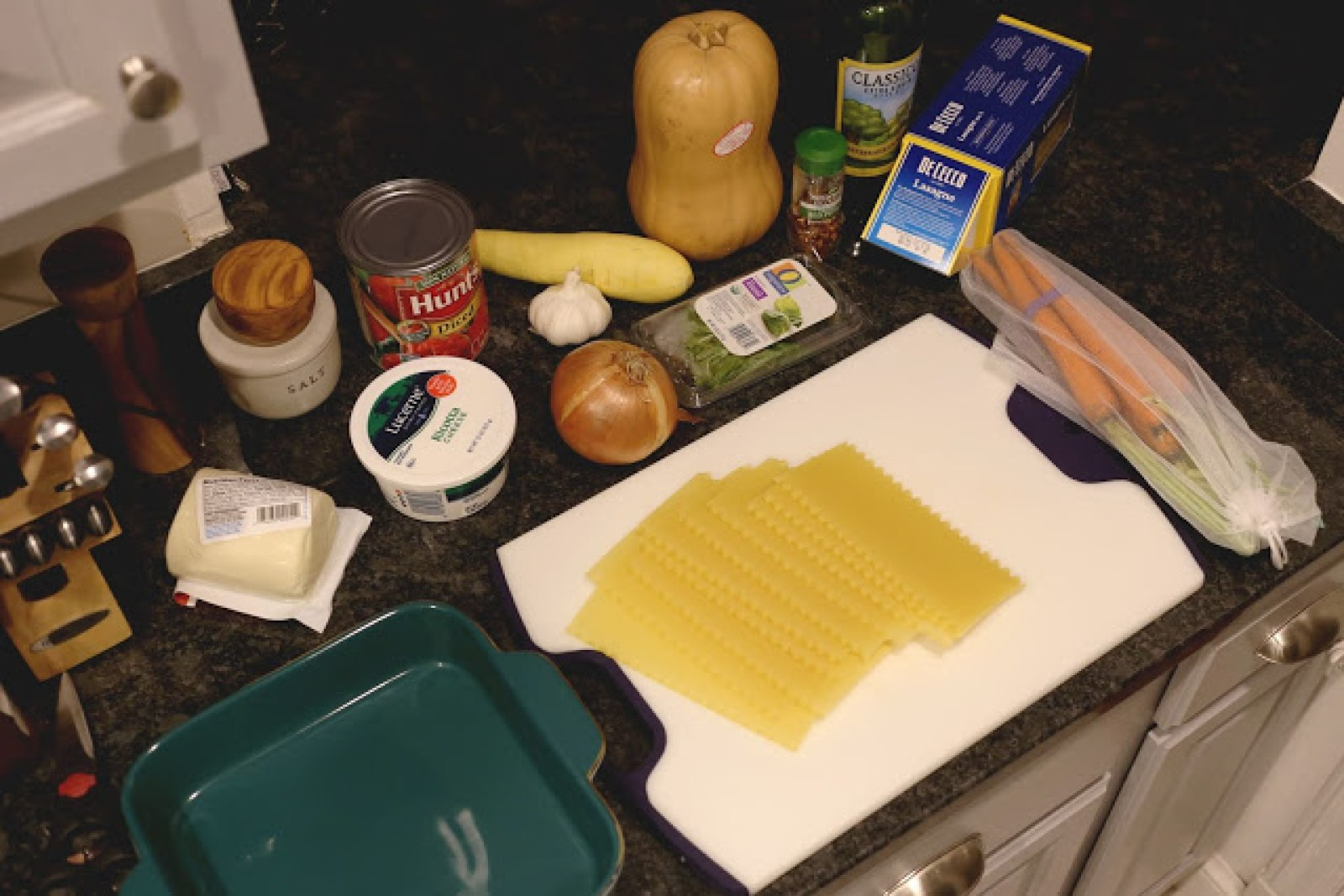 vegetarian lasagna ingredients