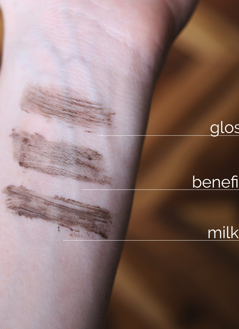 TINTED BROW GEL FACEOFF:  GLOSSIER 'BOY BROW' VS. BENEFIT 'GIMME BROW' VS. MILK MAKEUP 'KUSH'