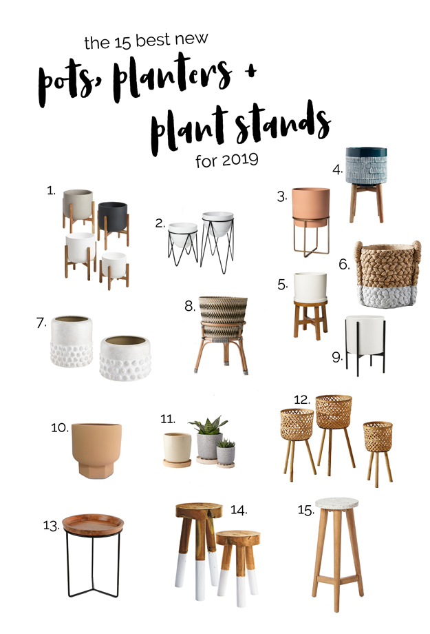15 CUTE POTS + PLANTERS FOR SPRING 2019