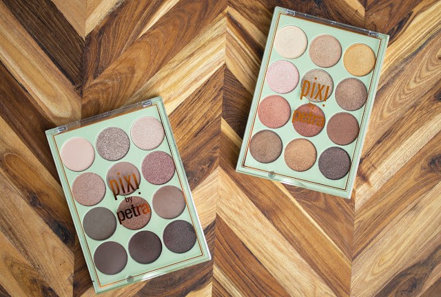 Overview of Pixi Beauty's Eye Reflections eyeshadow palettes in 'Reflex Light' and 'Natural Beauty'