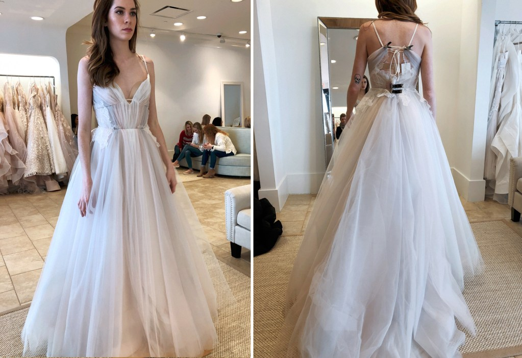 Wearing Hayley Paige 'Hawthorne' gown