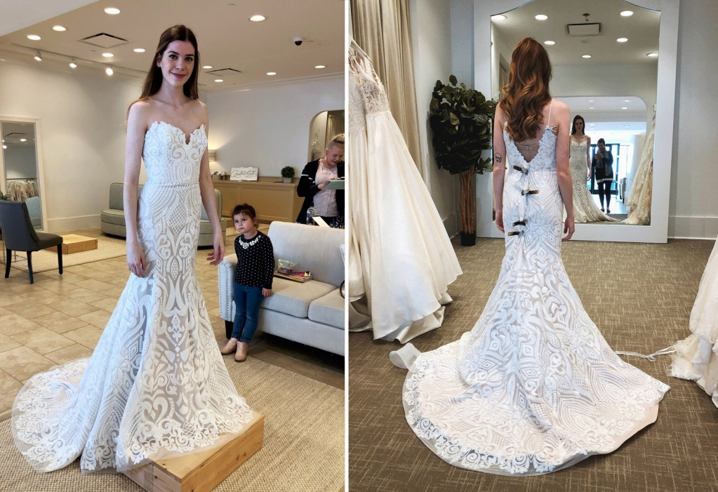 Wearing Hayley Paige 'Safyr' gown