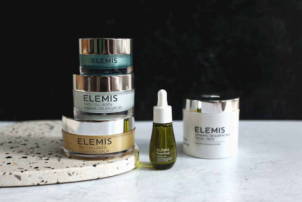 lineup of the Elemis products I received for review