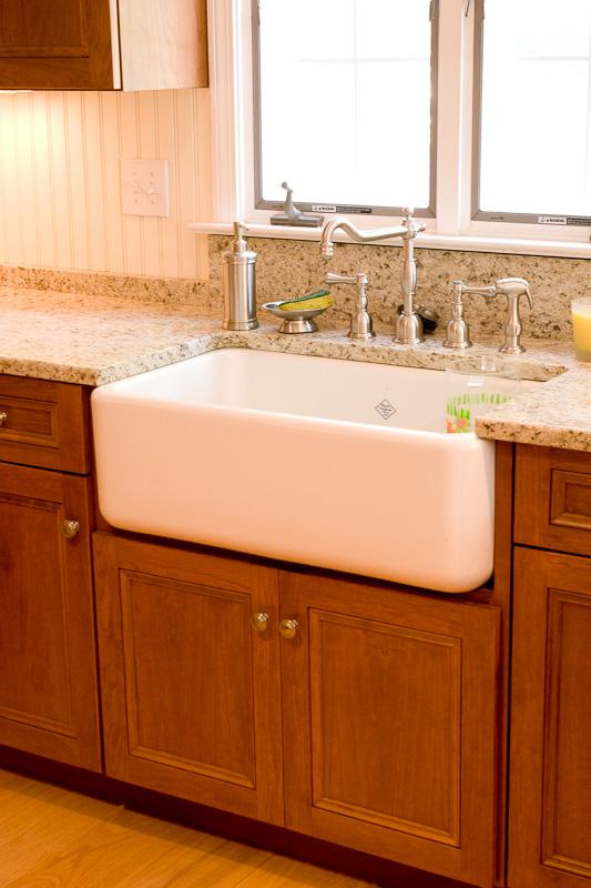Custom Kitchen Cabinets with a Farm Sink  Glastonbury CT