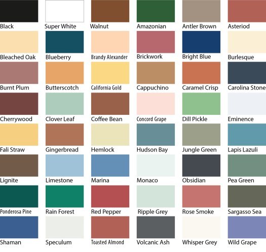 Sadolin Superdec Colour Chart
