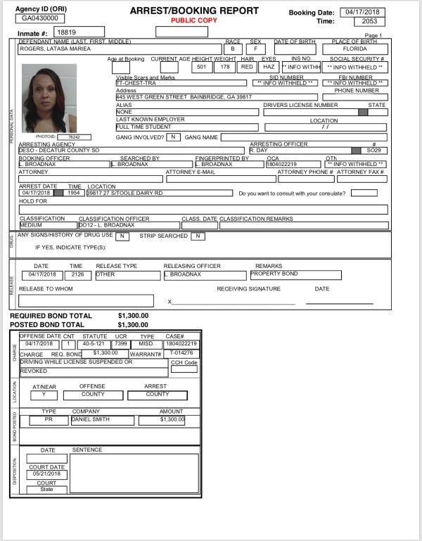 Bainbridge-Decatur County Arrest Reports | BainbridgeGa.com