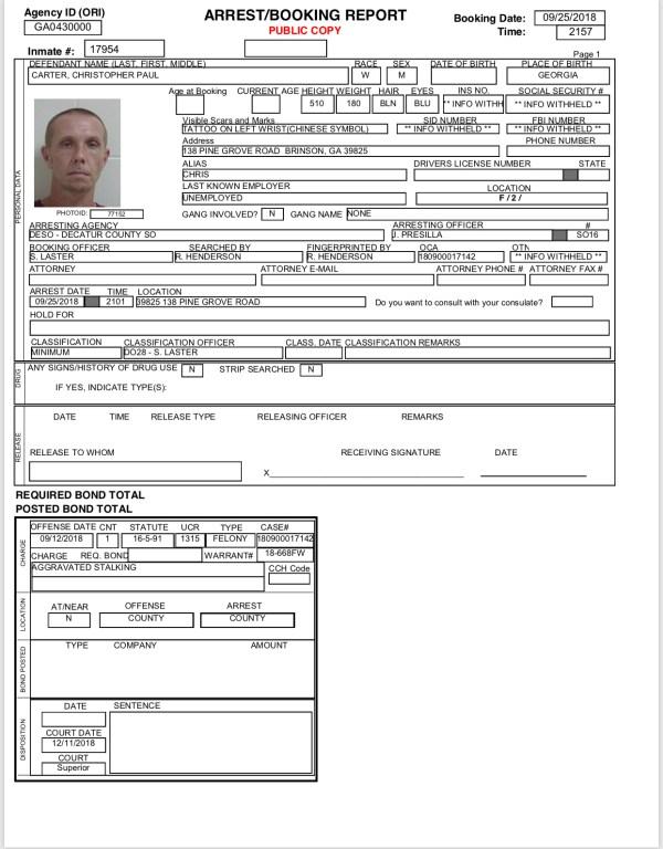 09/26/18 Arrest Reports | BainbridgeGa.com