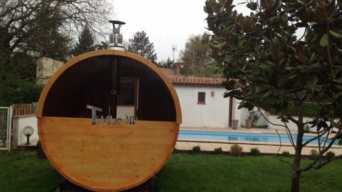 Saunas Extérieur Tonneau, Susan, VERFEIL, France (1)1