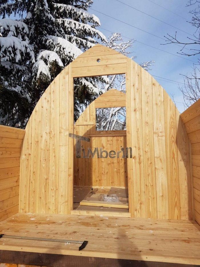 Jardin Extérieur Sauna En Bois Igloo Design, Cédric, Les Mosses, Suisse (3)