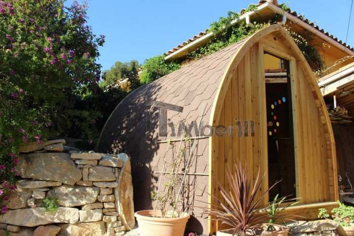 Jardin Extérieur Sauna En Bois Igloo Design,WORLD DESIGN ARCHITECTURE, La Ciotat, France (1)