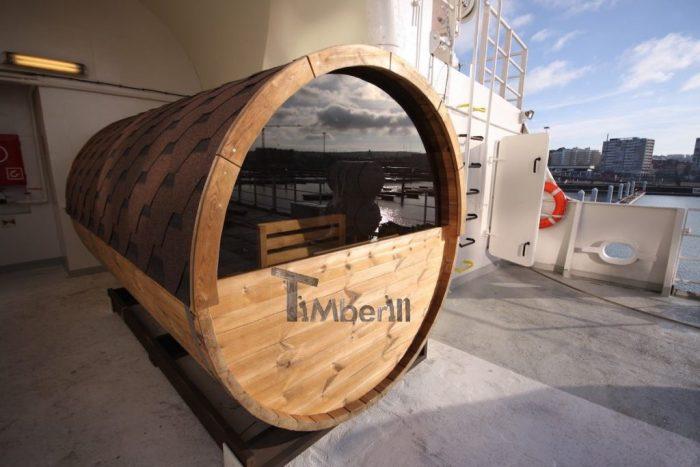 Bain Nordique En Fibre De Verre Avec Chauffage électrique Et Sauna Barrique, Yann, Marseille, France (1)