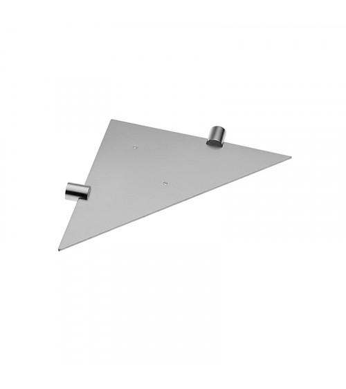 tablette d angle inox minimalism cosmic chrome