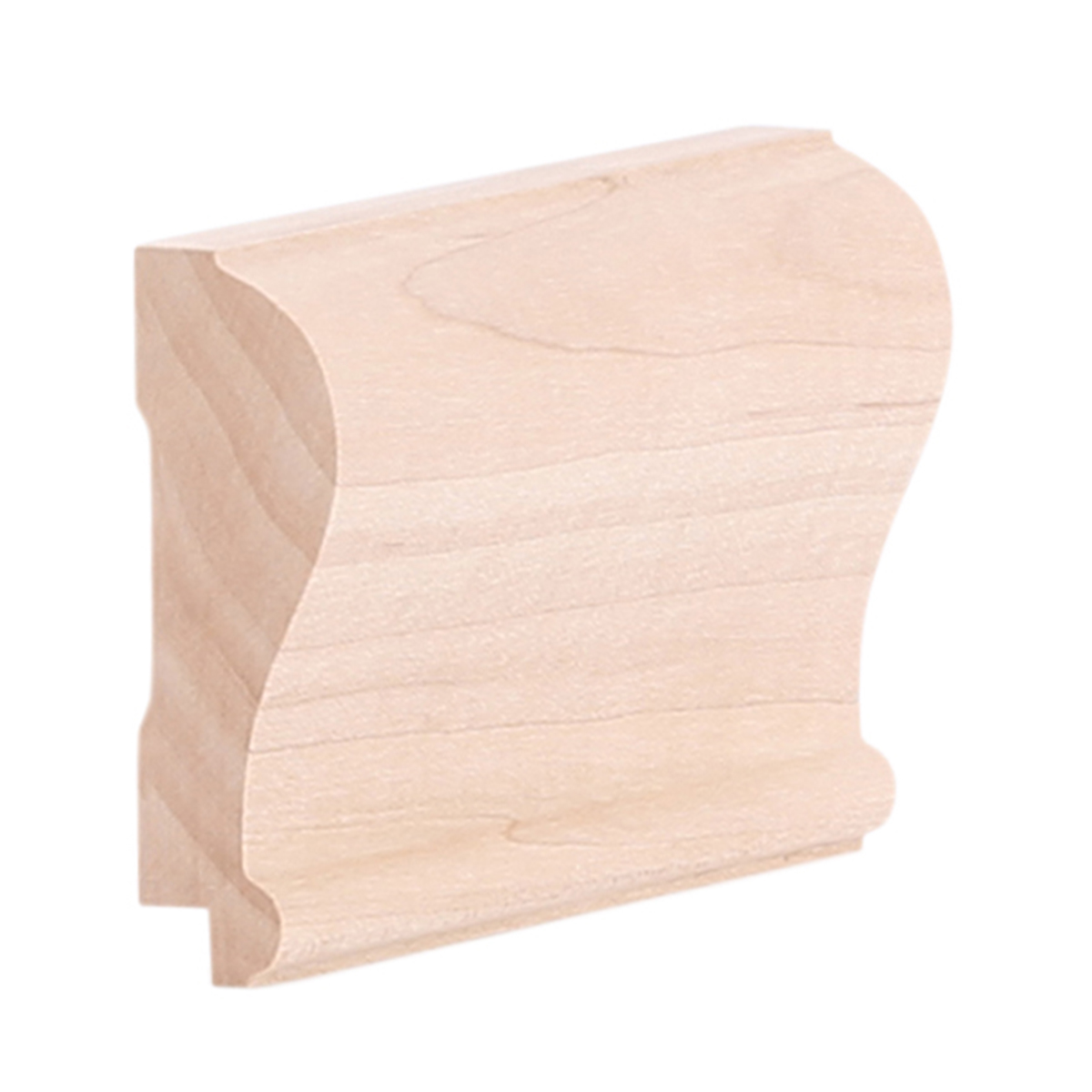 modern chair rail orange leather 3 4 x 2 8 hard maple w rabbet b400r