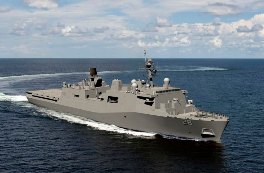 Future US Navy LPD Fort Lauderdale launched