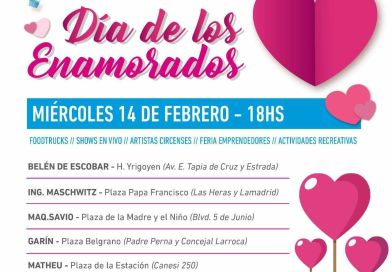 """Escobar celebra el """"Día de los enamorados"""""""