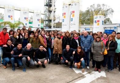 Nardini acompañó a docentes en una recorrida por la planta de biodiesel de Malvinas Argentinas