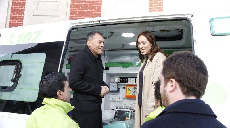 Vidal celebró la llegada de SAME en Moreno junto al intendente local