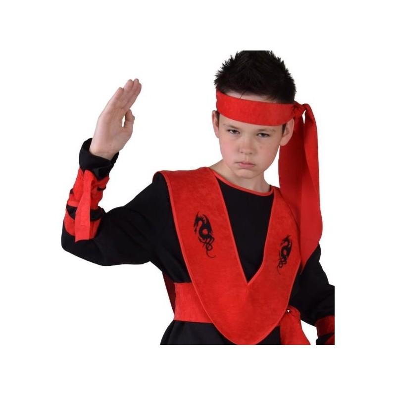 Dguisement ninja garon luxe noir rouge  Baiskadreamscom