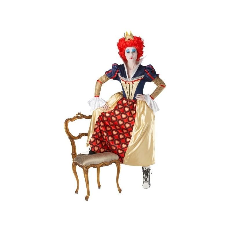 Dguisement Reine Rouge de Coeurs Alice aux pays des merveilles Femme  Baiskadreamscom