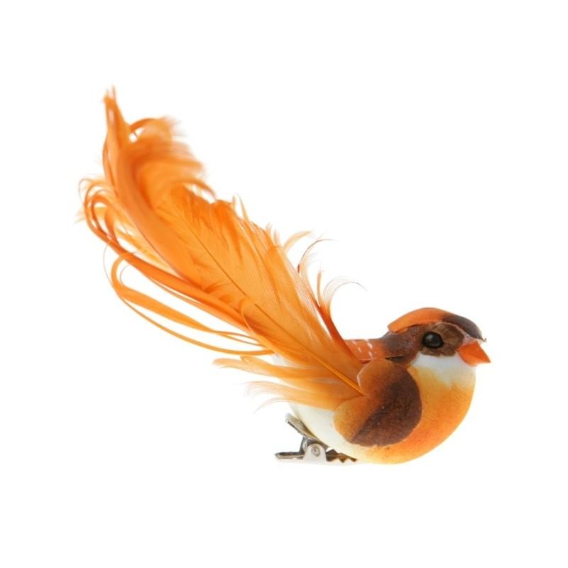 plumes sur pince les 2 grands oiseaux deco