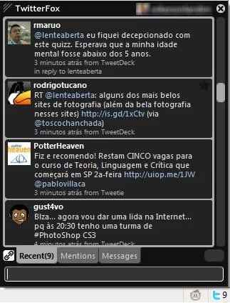 Layou  preto  do TwitterFox