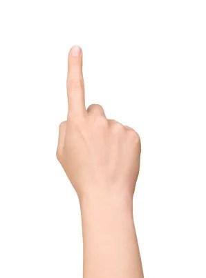 Nas telas capacitivas, tudo que você precisa é do seu dedo e nada mais.