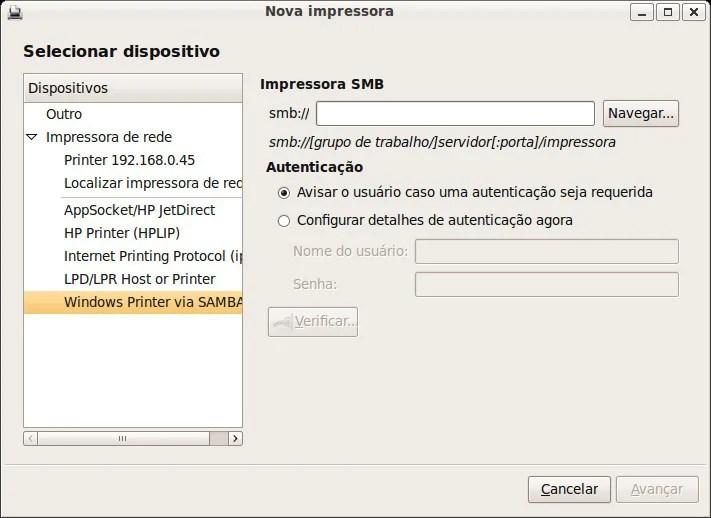 Adicionar impressora no Linux
