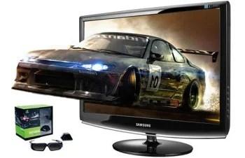 Monitor 3D da Samsung, imagem de divulgação.