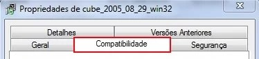 Aba compatibilidade