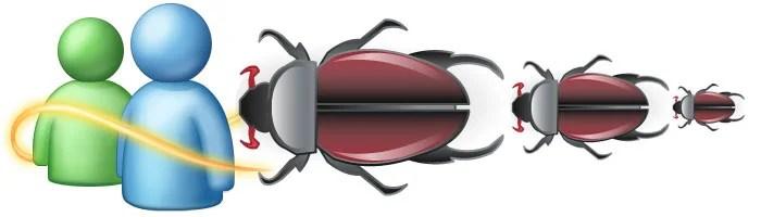 Os bugs persseguem seu MSN?