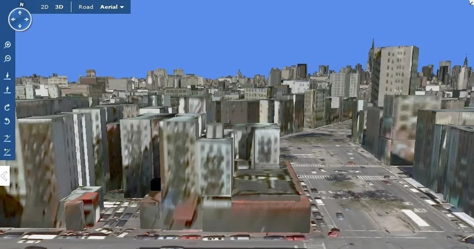 Visualização de cidades em 3D