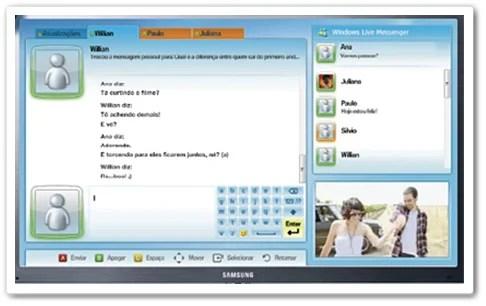 Agora o MSN pode ser acessado na TV.